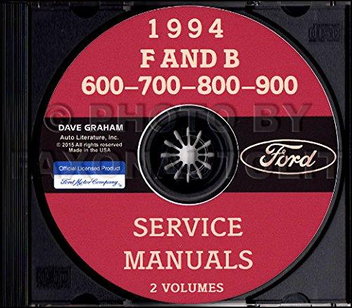 1994 FORD F & B MEDIUM & HEAVY TRUCK FACTORY REPAIR SHOP & SERVICE MANUAL CD - INCLUDES B-600, B-700, F-600, F-700, F-800, and FT-900 - 94