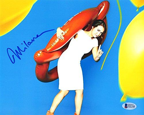 milana vayntrub signed autographed 8x10 photo lily adams at t rare