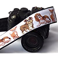 Dogs Camera Strap. Padded Camera Strap. DSLR Camera Strap. Canon, Nikon Camera Strap. Accessories; 196