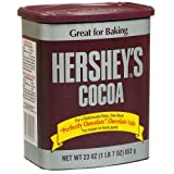 Hershey's Cocoa, Unsweetened, 23-Ounce Container (Pack of 2)