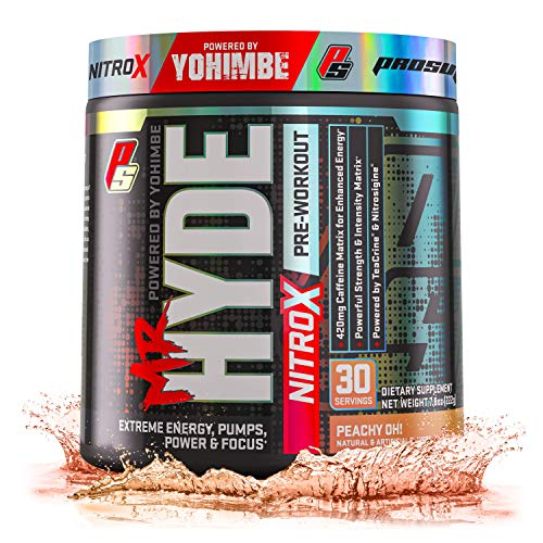 ProSupps Mr. Hyde NitroX Pre-Workout Powder Energy & Nitric Oxide Boosting Drink, Intense Sustained Energy, Pumps & Focus Powered by Yohimbe, Beta Alanine, Creatine & Nitrosigine, 30 True Servings (One Major Cause Of The Cold War Was)