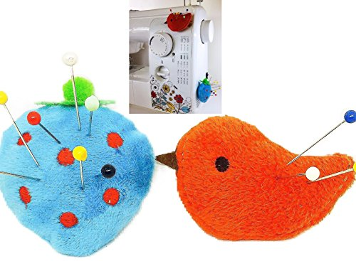 PeavyTailor Pin Cushion for Sewing Machine 2pcs Pin Holder- Blue Strawberry