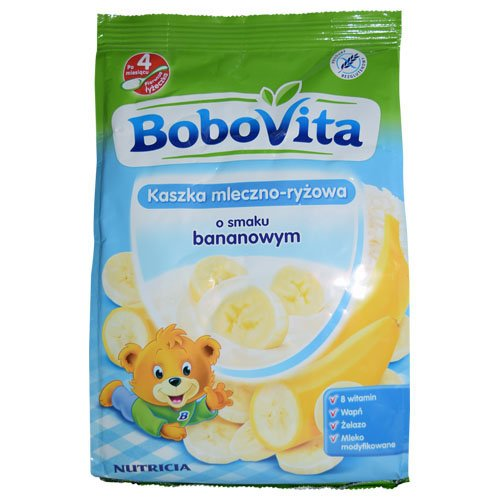 Bobovita Milk and Rice Gruel with Bananas for Babies (230g/8.1oz)