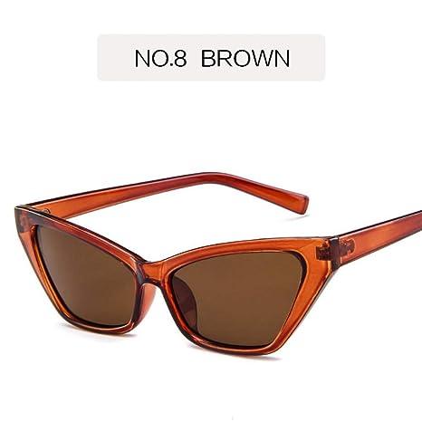 YHEGV Tendencia Cat Eye Sunglasses Mujeres Marca Retro Gafas ...