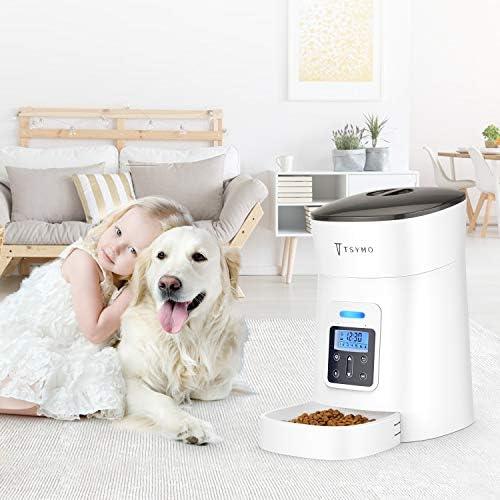 Alimentador automático para gatos y perros con temporizador programable grabación de voz 7
