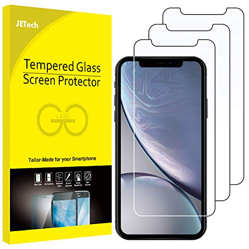 JETech 3-Pack Screen Protector for Apple iPhone XR 6.1-Inch, Case Friendly, Tempered Glass Film
