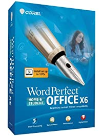 Screenshots of WordPerfect Office