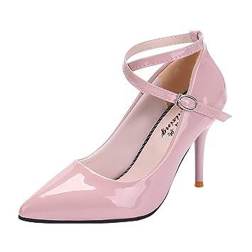 0cc9b125e8077 Jiayit Women s Pointy Toe High Heel Stiletto Ankle Strappy Pumps for  Fashion Women s Sexy Cross Strap