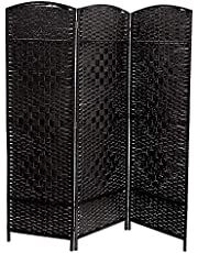 ihCASADECOR 3 Panel Woven Bamboo Screen (Micah)