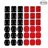 EVERMARKET 32 Pieces Helmet Adhesive Pads Sticker - 16 Curved and 16 Flat Mounts for GoPro Hero 7 6 5 4 3+ 3 2 SJ4000 5000 6000 DBPOWER AKASO VicTsing APEMAN Rollei Lightdow and Sony Sports DV and Mor