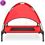 DzVeX__30'' Raised Mesh Cot Cooling Dog Bed w/ Canopy Tent, Travel Bag (Red) And adjustable beds tempurpedic adjustable beds twin beds queen bed frames sears beds mattresses king bed jcpenney beds bed