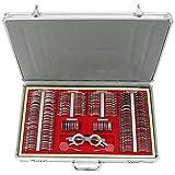 Eye Protection Accessories Set, 266 Pcs Optical Trial Lens Set Metal Rim Optometry Kit Case + Free Trial Frame (US_Stock)