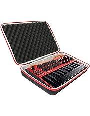 co2CREA Podróżna twarda obudowa do AKAI Professional MPK Mini MK3 – 25 klawiszy USB MIDI kontroler klawiatury (tylko czarna obudowa)