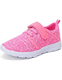 Kids Lightweight Breathable Running Sneakers Easy Walk...