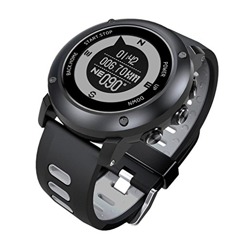 Price comparison product image Boofab Multifunction UW90 4G Smart Watch Outdoor Sports Running IP68 Waterproof The treadmill Watch With GPS Positioning (Black)