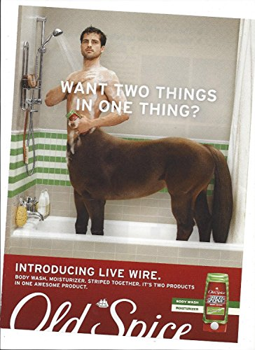PRINT AD For Old Spice Live Wire Body Wash Centaur for sale  Delivered anywhere in USA