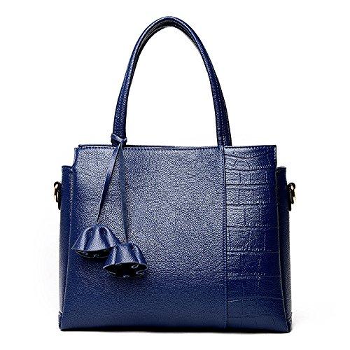 Bolso De Hombro Del Bolso De Las Mujeres Bolso De Mensajero Borlas Simples De La Moda Blue