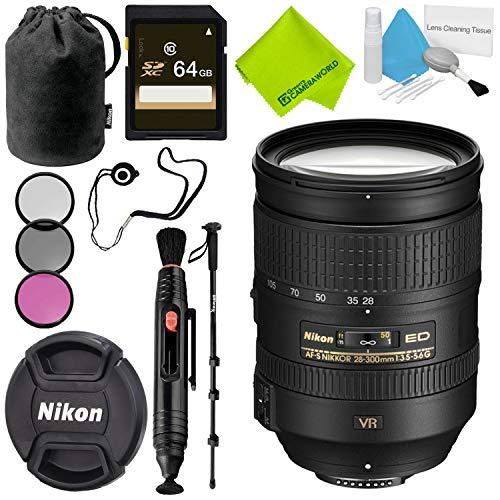 Nikon AF-S NIKKOR 28-300mm f/3.5-5.6G ED VR Lens Advanced Bundle