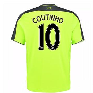 New Balance para hombre del Liverpool FC Tercera Manga Corta Camiseta De Fútbol, hombre, Coutinho 10: Amazon.es: Deportes y aire libre