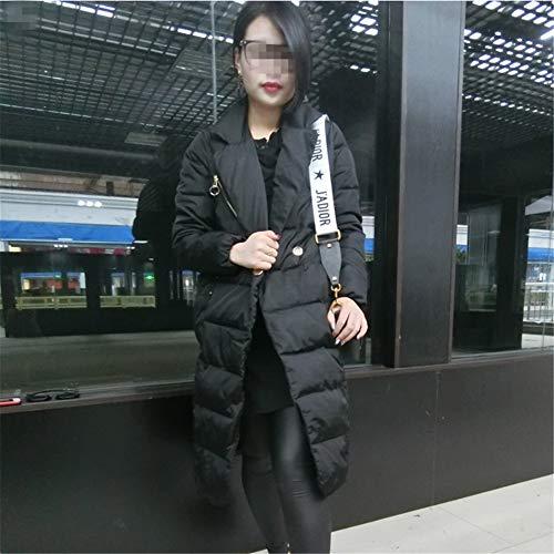 Veste Duvet Avec Coton Black Rembourrée Pour S Longue En Femmes Hiver FqwRrtF