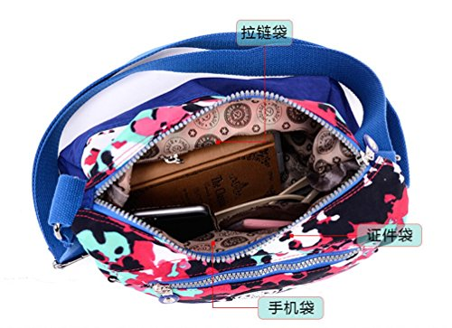 for Color Multi Casual Contrast Crossbody Water Resistant Bag Shoulder Chou Tiny Girls Travel colored Bag Nylon EB8q76xS