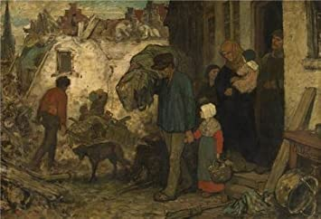 Oil Painting U0027The Expulsion By Charles De Grouxu0027, 10 X 15 Inch /