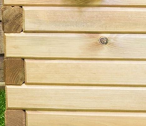 Pino Raised maceta. Por Primrose – tratada duradera madera de pino ...