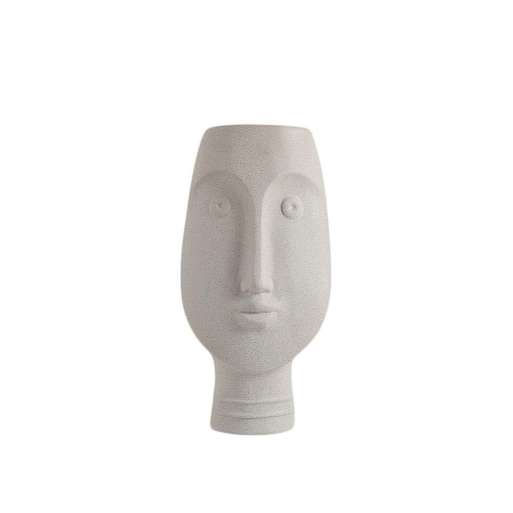 MAHONGQING フラワーノルディックアートフェイスセラミック花瓶リビングルームフラワーアレンジメントスタジオストアホームデコレーションデコレーション (Size : M) B07RTP1SBV  Medium