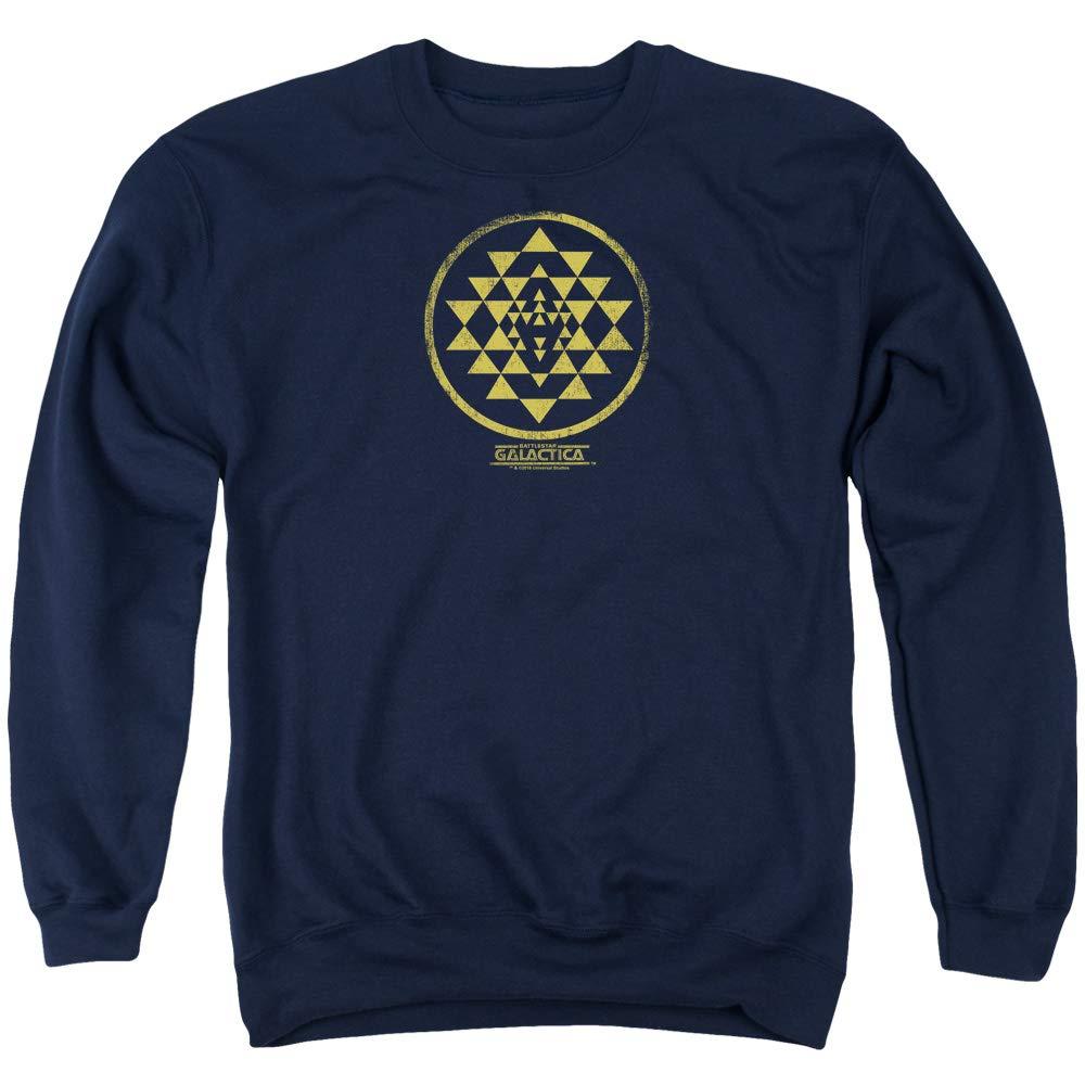 Battlestar Galactica BSG - Men& 039;s Gold Squadron Patch Sweater