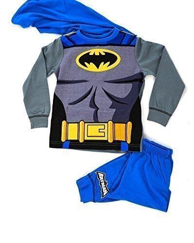 Spiderman Costumes Uk (Lora Dora Little Boys' Fancy Dress Up Play Costumes Pyjamas Nightwear Pj'S Pjs Set Batman Party Batman With Cape 7-8 Years)