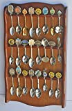 Spoon Rack Holder to hold 24 Spoons, Display Souvenir or Collectible Spoons, SP24-WALN