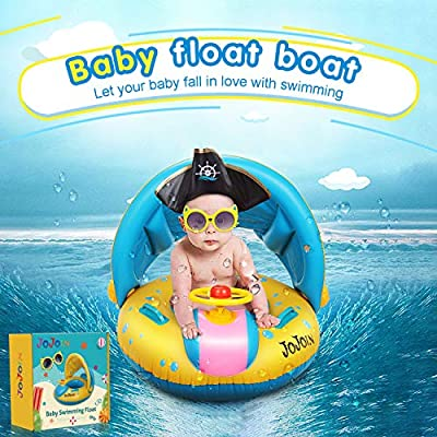 Jojoin Flotador para Bebé, Inflable Flotador con Asiento, Anillo ...