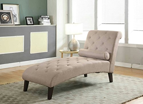 Home Life Fur_c10006_Lightbrown_05_FBA Canvas Brown Linen Chaise Lounger, Beige