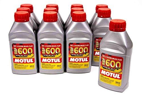 Motul USA DOT 4 Brake Fluid 500ml Case of 12 P/N 100949-12 (Best Brake Fluid For Track Days)