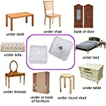 QY 12PCS Square Shape Rubber Non Slip Non Skid Feet Pad for Table Desk Chair and Sofa