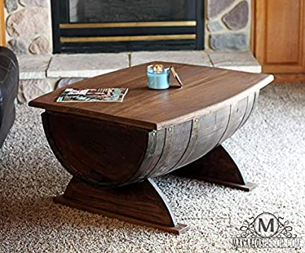 Amazon Com Wine Barrel Coffee Table Coffee Table Whiskey Barrel Coffee Table Wine Barrel Table Wine Barrel Furniture Handmade