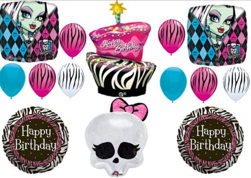 Monster High Zebra Cake Birthday Party Balloons Decorations Supplies Favors by -