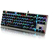 AULA RGB Mechanical Gaming Keyboard LED Rainbow Backlit with Bule Switches(Grey/Black)