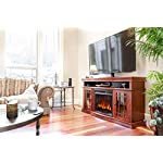 e-Flame USA Jackson TV Stand and Jackson LED Electric Fireplace Insert Stove with Remote Bundle - 3-D Logs and Fire…