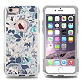 iphone 6 case vintage - Unnito iPhone 6 Case – Hybrid Commuter Case | Slim Cover with Hard Shell Design and Soft Inner Layer Compatible with iPhone 6S White Case - Vintage Floral Roses