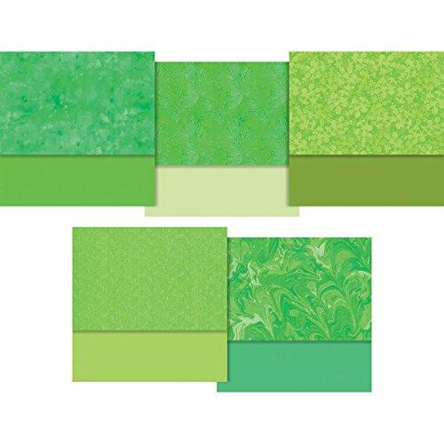 Designer Essentials Solids & Mixers Green 20 Fat Quarters FreeSpirit by Free Spirit