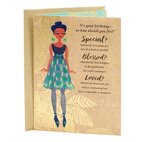 Hallmark Mahogany Religious Birthday Greeting Card for Her (Special, Blessed, Loved) (Bday Card For Best Friend)