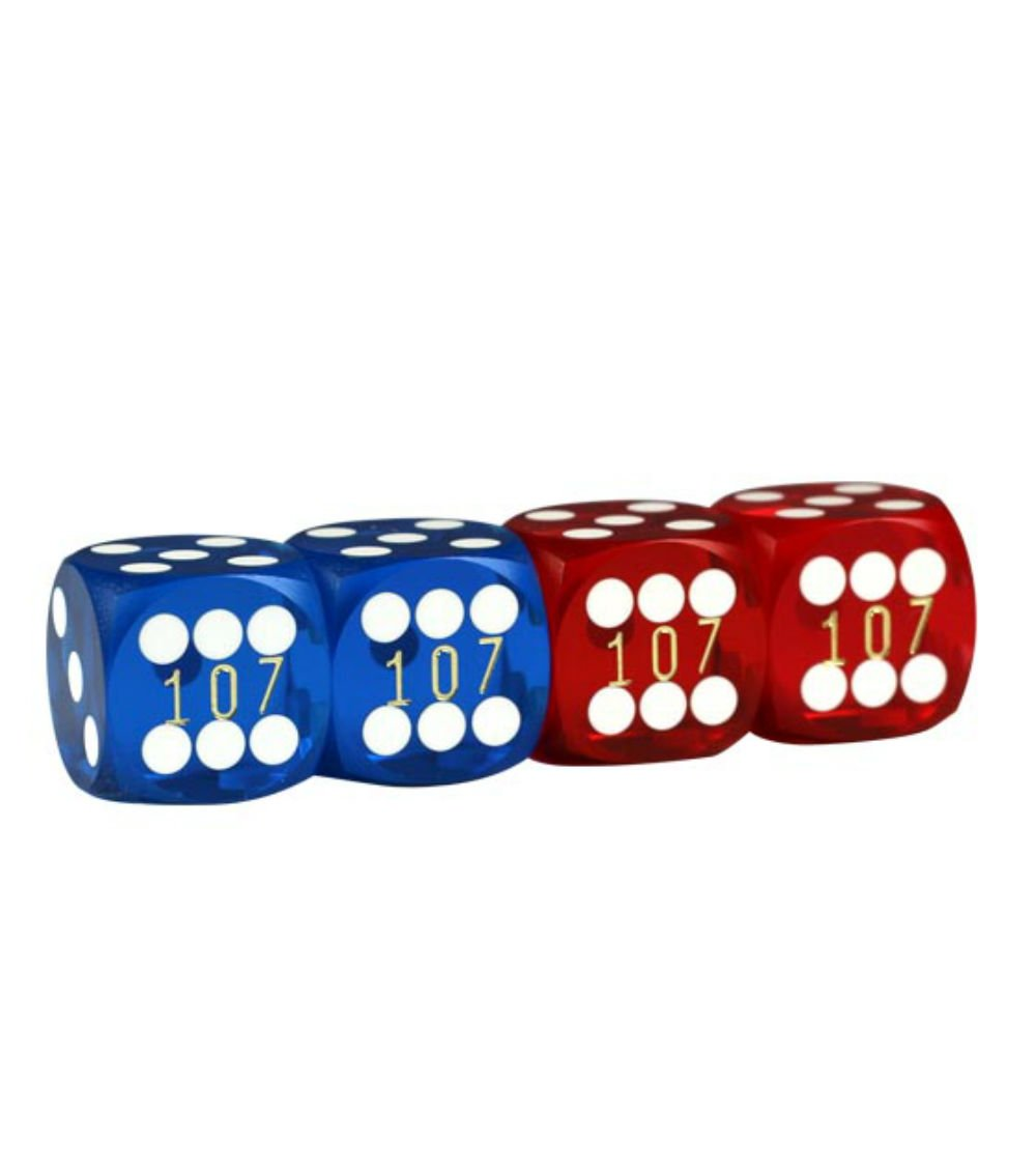 Lion Games & Gifts Europe 343301 16 mm Backgammon Precision Dice (Set of 4)