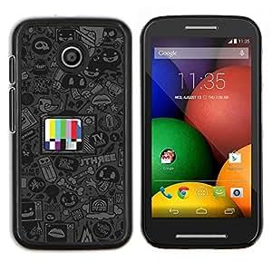 Caucho caso de Shell duro de la cubierta de accesorios de protección BY RAYDREAMMM - Motorola Moto E - Programas de dibujos animados