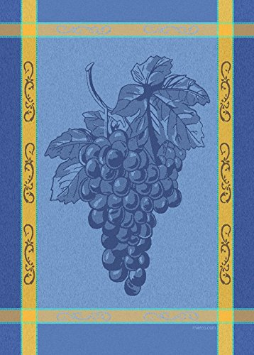 - Mierco 8RT-Grape Blue Yellow European Jacquard Woven Tea Towel 20