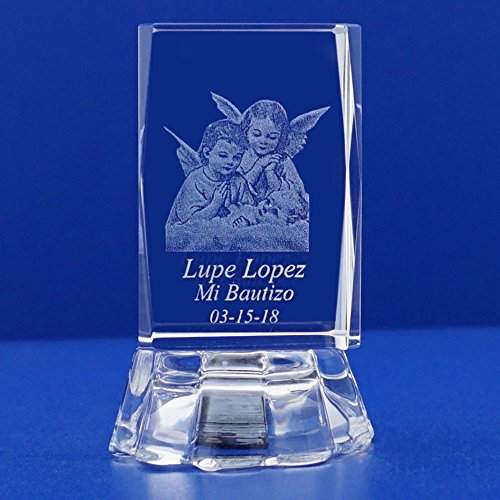 Laser Engraved Crystal With Lighted Led Base