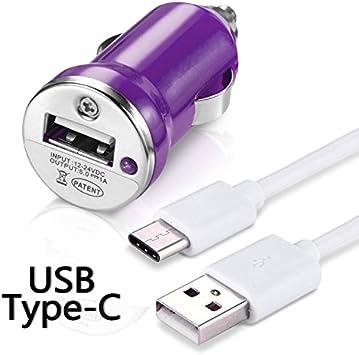 KARYLAX Chargeur Voiture Câble USB Type C Violet pour Echo