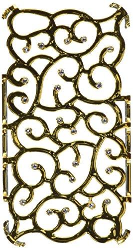 Diamond Cover 202099 Crystal Bling Handy Case mit Kristallen von Swarovski für Apple iPhone 4/4S gold