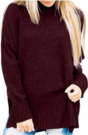 Jersey Mujer Primavera Camisa Mujer Raya Cuello Redondo Manga Larga Suelto Blusa Casual Otoño Shirt Top Negro Amarillo Verde,D,XL: Amazon.es: Hogar