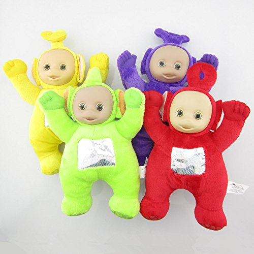- Set of 4 Pcs New Stuffed Teletubbies Laa Po Tinky Dipsy Soft Plush Toy Doll 10.5